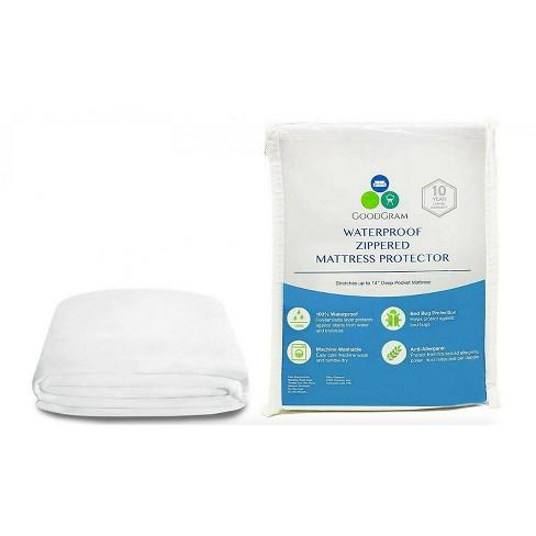 GoodGram Hypoallergenic Waterproof Ultra Soft BedBug Zippered Mattress Cover Protectors - image 1 of 1