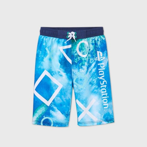 Boys' PlayStation Swim Trunks - Blue - image 1 of 2