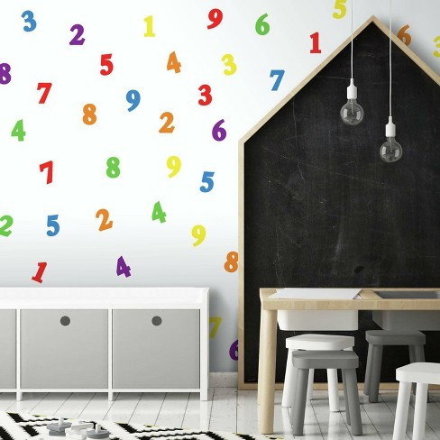 Primary Numbers Peel and Stick Wall Decal - RoomMates - image 1 of 3