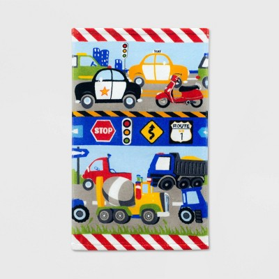 Trains and Trucks Printed Hand Towel - Dream Factory