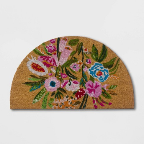 Painted Floral Doormat - Opalhouse™ - image 1 of 2