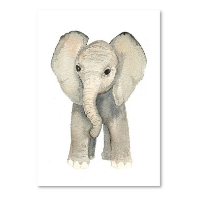 Americanflat Elephant by Cami Monet Poster