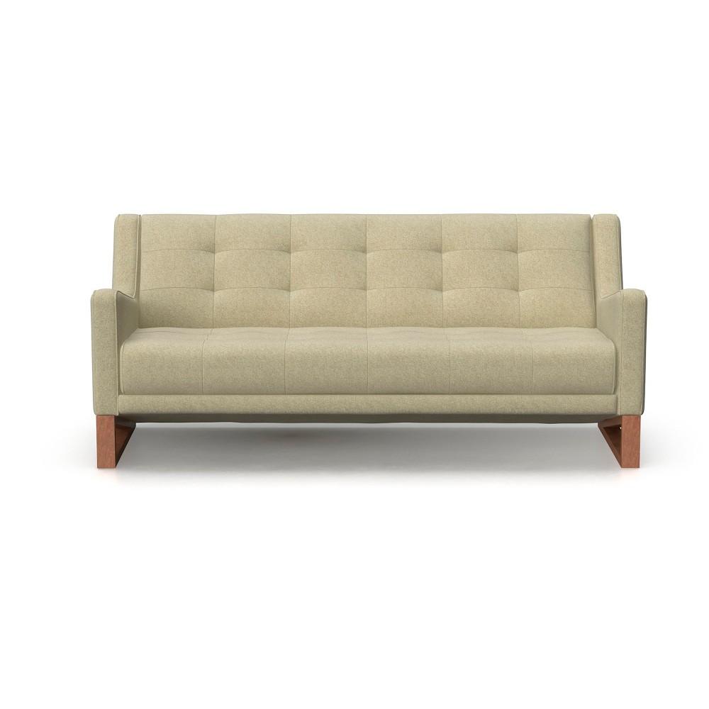 Image of Mandy Mid Century Modern Tufted Sofa Oatmeal - AF Lifestlye, Beige