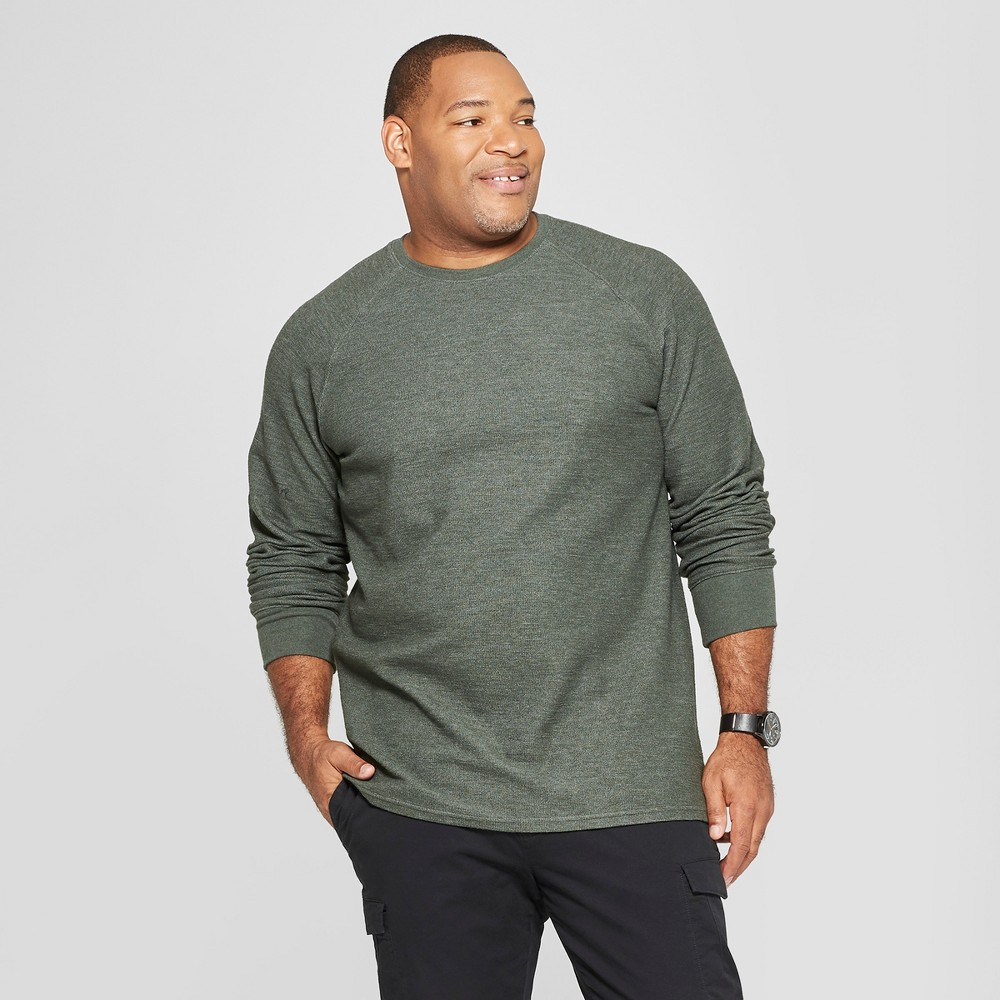 Men's Big & Tall Long Sleeve Textured Crew Neck Shirt - Goodfellow & Co Elegant Vine 2XBT