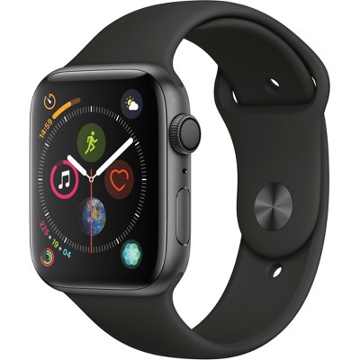 Apple Watch Series 4 GPS 44mm Space Gray Aluminum Case with Sport Band - Black