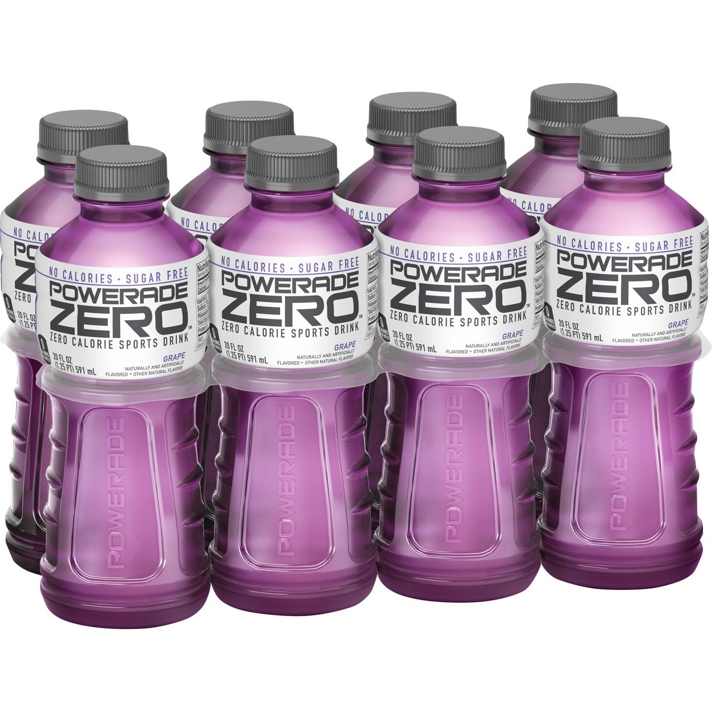 POWERADE Zero Grape Sports Drink - 8pk/20 fl oz Bottles - image 1 of 5