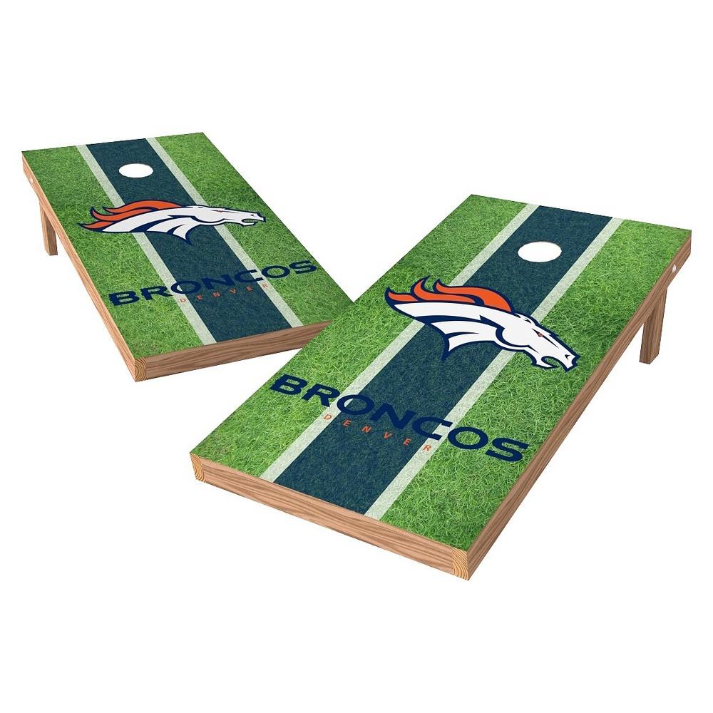Denver Broncos Wild Sports XL Shield Field Cornhole Bag Toss Set - 2x4 ft.