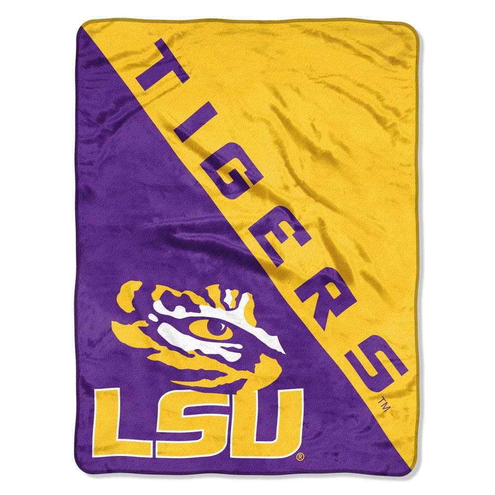 NCAA Lsu Tigers Micro Fleece Throw Blanket, Purple/Gold