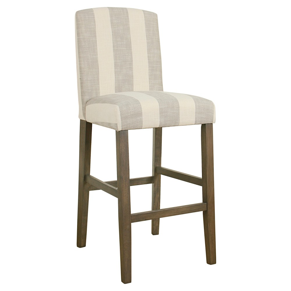 Curved Back Barstool Gray Stripe - Homepop was $129.99 now $97.49 (25.0% off)
