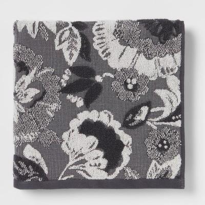 Floral Bath Towel Black/White - Threshold™