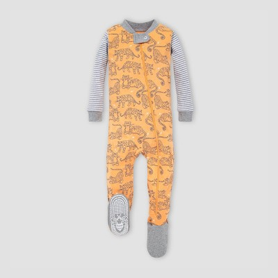 Burt's Bees Baby® Baby Boys' Tigers Organic Cotton Footed Pajama - Orange 3-6M