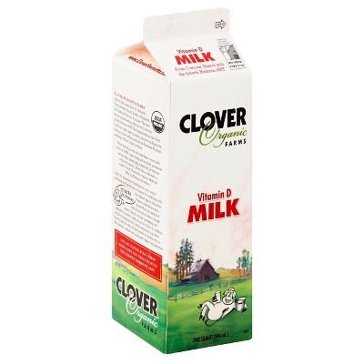 Clover Organic Farms Vitamin D Milk - 1qt