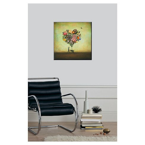 big heart botany framed art print target