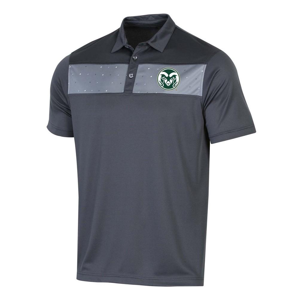 NCAA Men's Short Sleeve Polo Shirt Colorado State Rams - XL, Multicolored