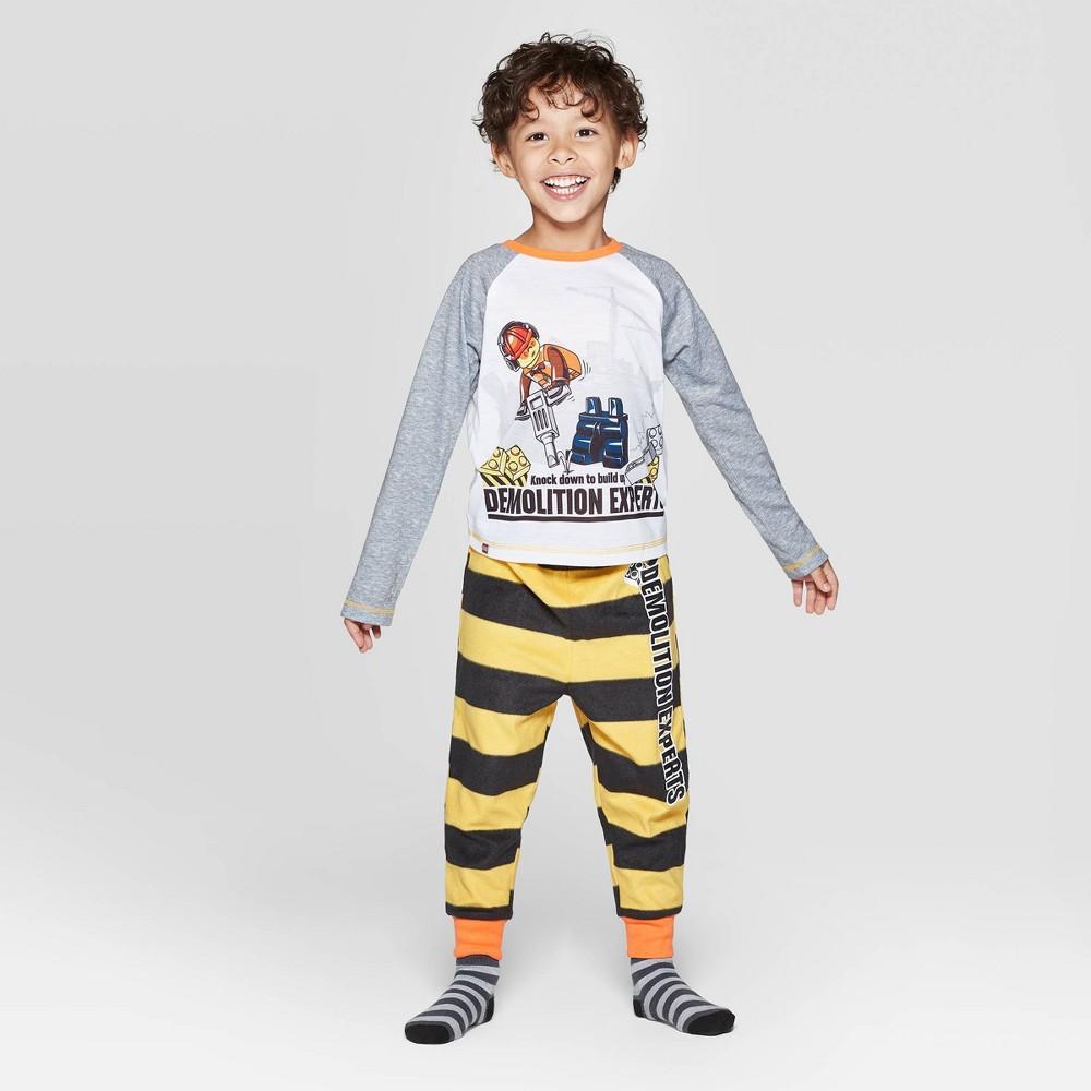 Image of Toddler Boys' 2pc LEGO Iconic Pajama Set - Gray 2T, Boy's