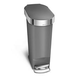 simplehuman 40L Slim Liner Rim Plastic Step Trash Can
