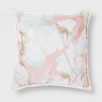 Pink Marble Throw Pillow - Room Essentials™