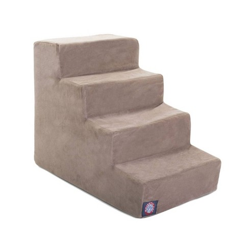 Majestic Pet 4 Step Suede Pet Stairs - Stone - Large - image 1 of 4