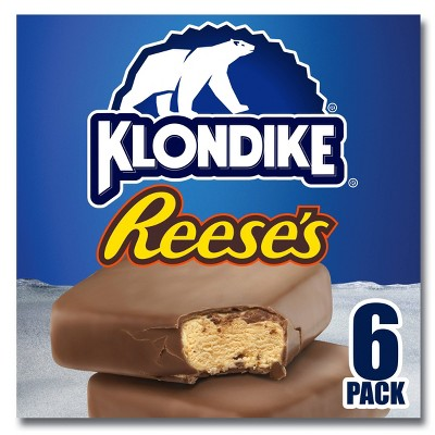 Klondike Reese's Peanut Butter Ice Cream Bars Dipped in Chocolately Coating - 6ct