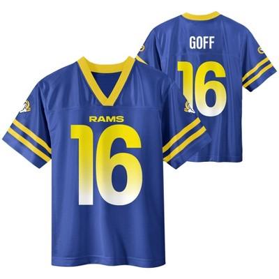NFL Los Angeles Rams Boys' Jared Goff Short Sleeve Jersey