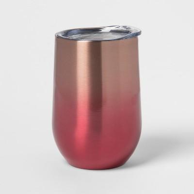 11.5oz Stainless Steel Wine Tumbler Pink