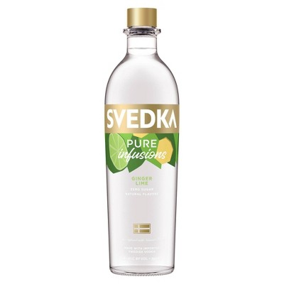 SVEDKA Pure Infusions Ginger Lime Flavored Vodka - 750ml Bottle