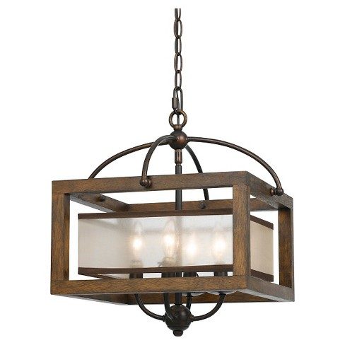 "Cal Lighting Mission wood and Metal Pendant (60"" W X 2"") - image 1 of 1"