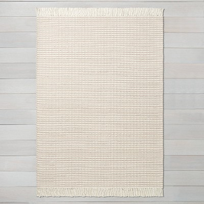 9' x 12' Textured Stripe Area Rug Best Beige / Sour Cream - Hearth & Hand™ with Magnolia