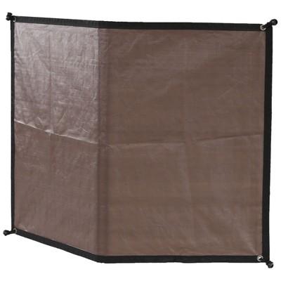 Advantek Pet 23348 8 Foot Outdoor Dog Gazebo Reversible Wall Sun Shade Tarp Cover, Brown/White