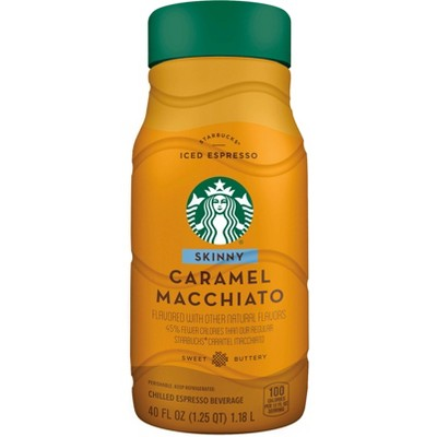 Starbucks Skinny Caramel Macchiato Chilled Espresso Beverage - 40 fl oz