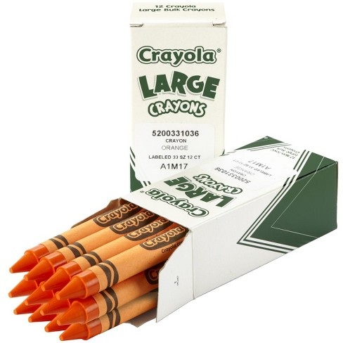 Crayola Large Non-Toxic Single-Color Crayon Refill,  4 x 7/16 in, Orange, pk of 12 - image 1 of 1