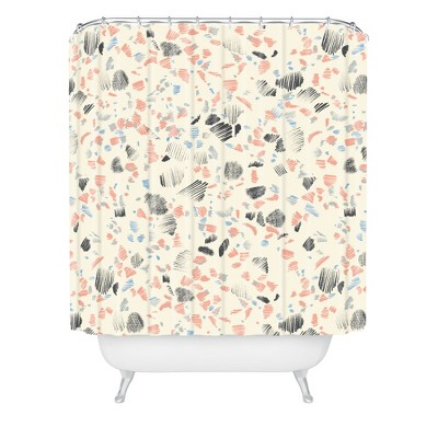 Pattern State Terrazzo Sketch Shower Curtain Pink/Abstract - Deny Designs