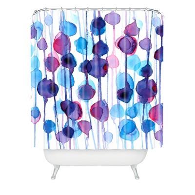 Karen Abstract Shower Curtain Purple - Deny Designs