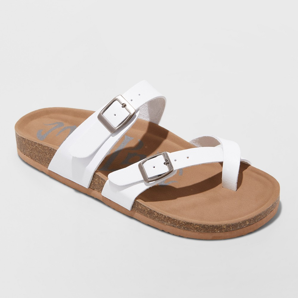 Women's Wide Width Mad Love Prudence Footbed Sandal - White 12W, Size: 12 Wide