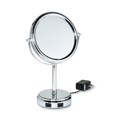 Vanity Makeup Mirror with USB Ports Chrome - 88 Main