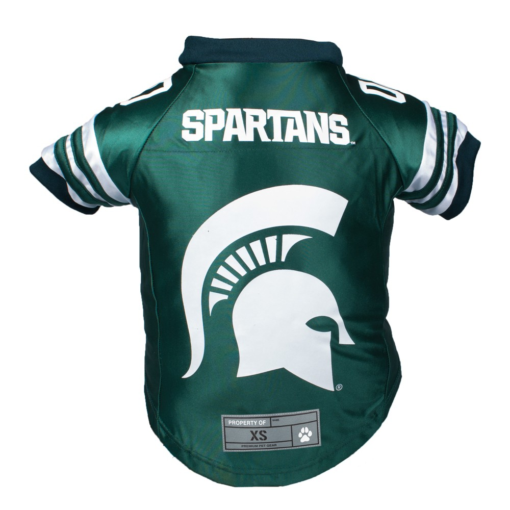 Michigan State Spartans Little Earth Premium Pet Football Jersey - M