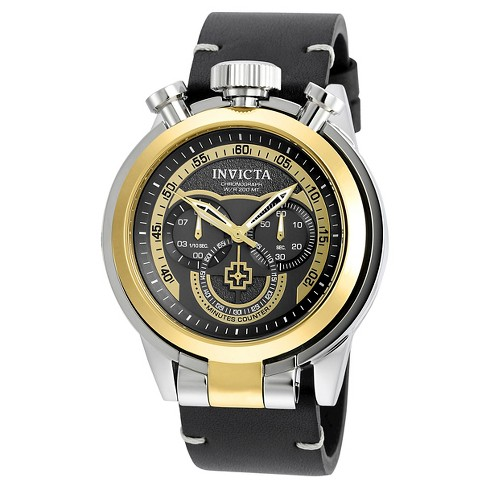 Men's Invicta 18767 I-Force Quartz Multifunction Gold Dial Strap Watch - Black - image 1 of 1
