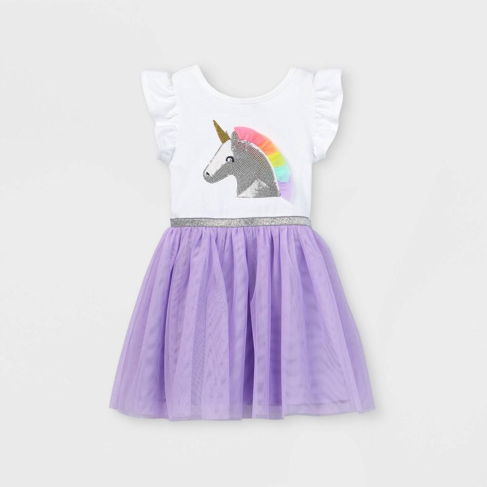 Toddler Girls 39 Sequin Unicorn Tulle Dress Cat 38 Jack 8482 Purple 4t