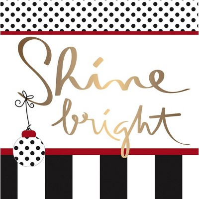 Evergreen Shine Bright Paper Lunch Napkin, 20 count