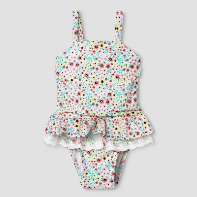 Baby Girls' Lace Tutu One Piece Swimsuit - Cat & Jack™ 9M