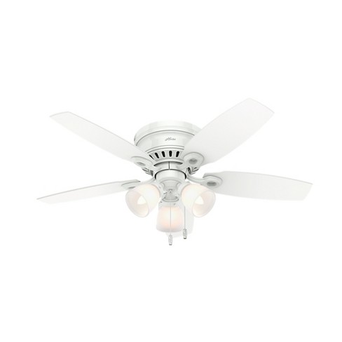 """46"""" Hatherton Snow White Ceiling Fan With Light - Hunter ..."""
