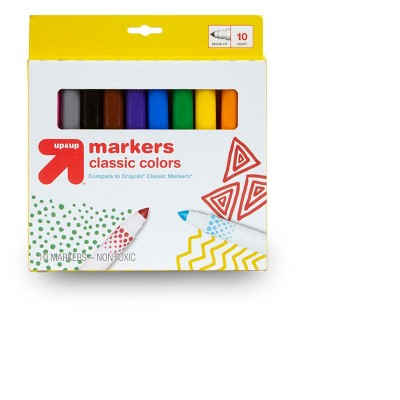 10ct Broad Tip Markers Classic Colors - up & up™
