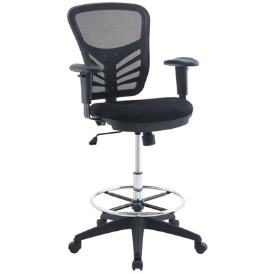 Articulate Drafting Chair Black - Modway