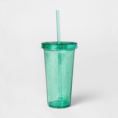 23oz Plastic Confetti Tumbler with Lid and Straw - Sun Squad™ - image 1 of 1