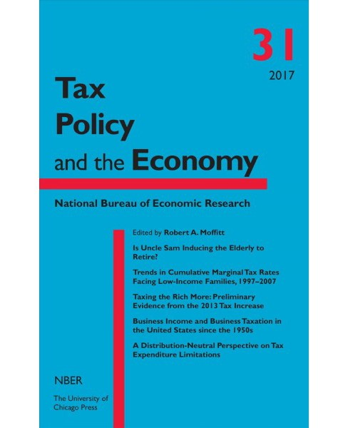 Tax Policy and the Economy (Vol 31) (Hardcover) - image 1 of 1