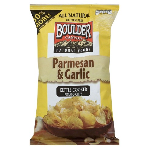 Boulder Canyon Kettle Cooked Parmesan & Garlic Potato Chips - 6.5oz - image 1 of 1