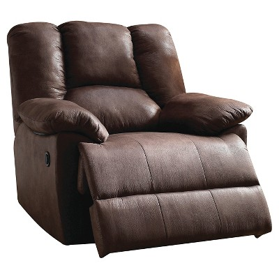Acme Oliver Glider Recliner, Dark Brown Leather-aire