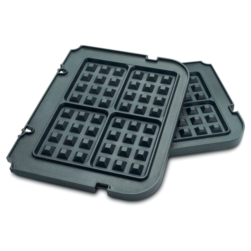 Cuisinart Griddler Waffle Plates - Black GR-WAFP Nonstick baking and cooking surface! Can be used with 1800 watt waffler by Cuisinart. Grill surface area is 42 square inches. Made of cast aluminum. Handwash for best longevity. Enjoy the versatility of this wonderful appliance add-on in your home kitchen! Savor the good life with Cuisinart and prepare healthy meals for your friends and family!! Color: Black.