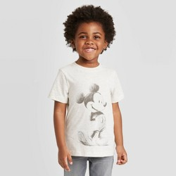 Toddler Boys' Disney Mickey Sketched T-Shirt - Oatmeal Heather