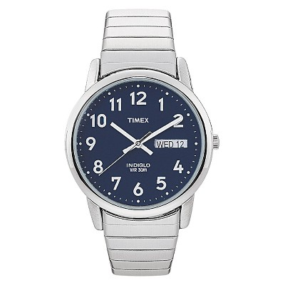 Men's Timex Easy Reader Expansion Band Watch - Silver/Blue T200319J